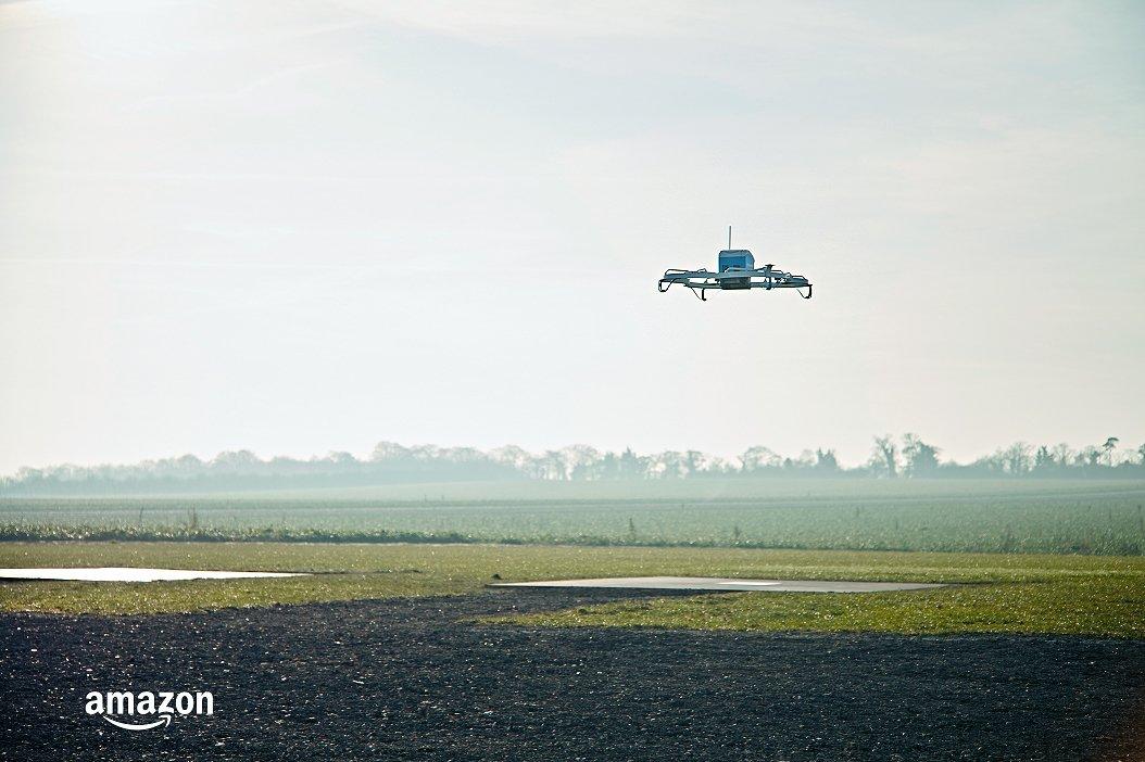 Primeira Entrega Drones Amazon
