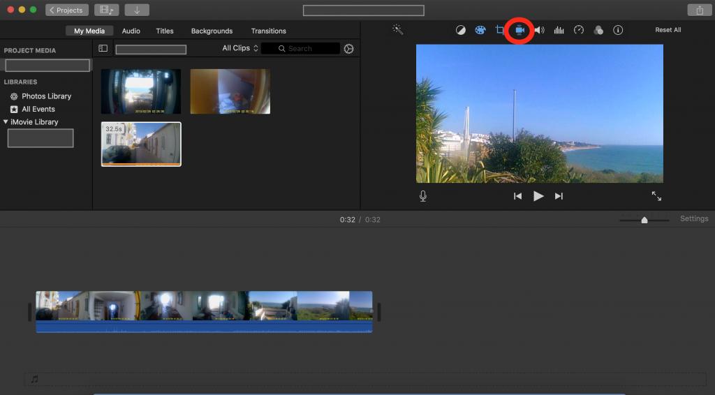 iMovie- Estabilização imagens drones