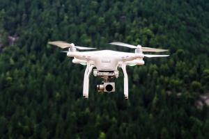 Drone no ar
